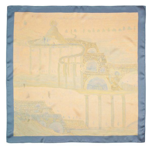 "Silk scarf - ""ALLEGRO"" | Avenueart.lt"