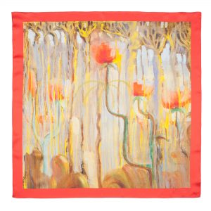 "Silk scarf - ""CREATION OF THE WORLD (IX) 