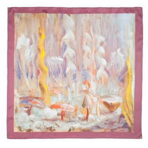 "Silk scarf - ""CREATION OF THE WORLD X"" 