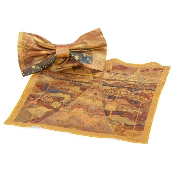 """Bow tie and pocket square - """"SONATA OF THE STARS"""" 