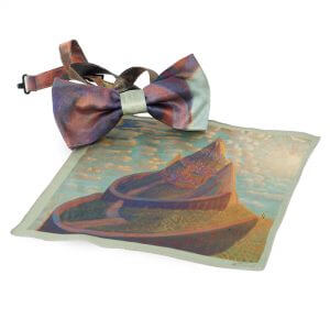 "Bow tie and pocket square - ""CASTLE FAIRY TALE"" 