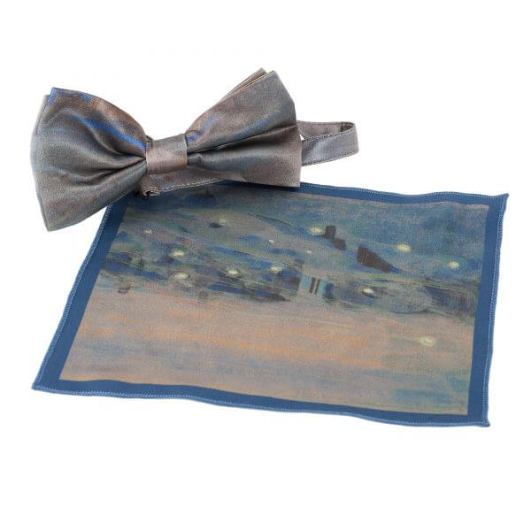 "Bow tie and pocket square - ""SPARKS"" 