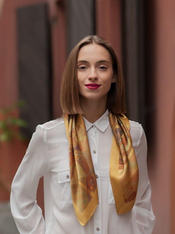 "Silk scarf - ""SONATA OF THE STARS"" | Avenueart.lt"