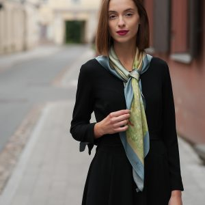 "Silk scarf - ""ANGELS (PARADISE)"" | Avenueart.lt"