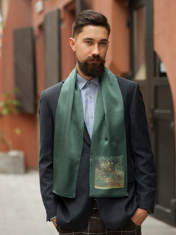 "Silk scarf for men - ""FANTASY"" 