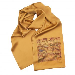 "Silk scarf - ""SONATA OF THE STARS"" 