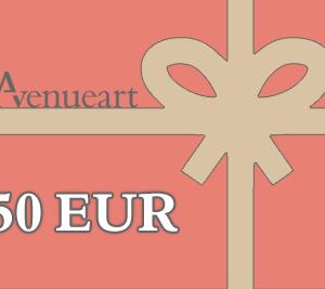 Gift certificate 50 EUR | AVENUEART.LT